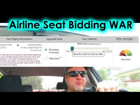 The Airline Seat Bidding War