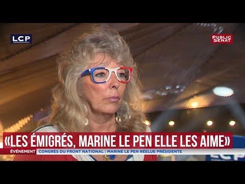 """Une militante du FN: """"Les émigrés, Marine Le Pen elle les aime"""""""