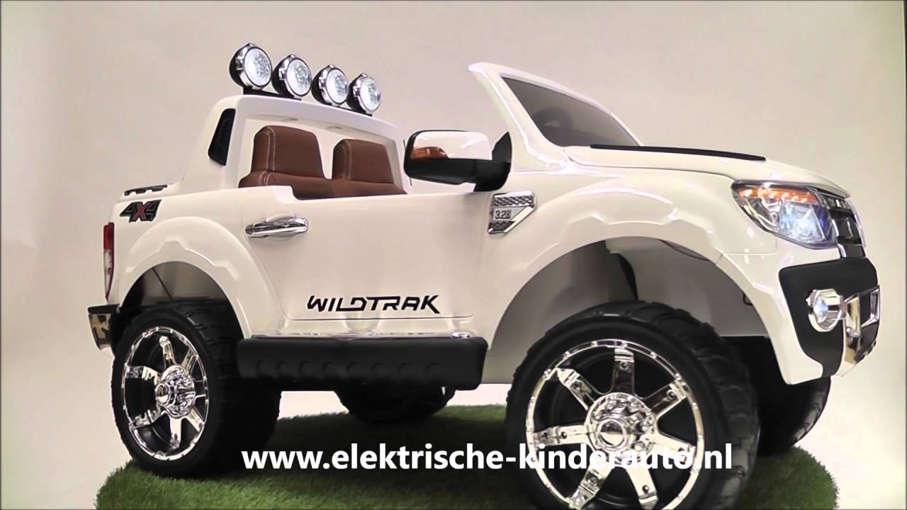 kinderauto ford ranger wit rubberen banden youtube. Black Bedroom Furniture Sets. Home Design Ideas