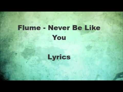 Flume - Never be like you (lyrics on screen)
