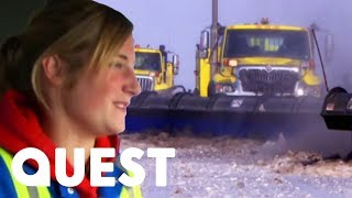 Keeping An Airport Running In Heavy Snow | How Do They Do It? Olympic Winter Games