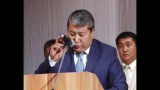 Выступление М.Мырзакматова в городе Нарын