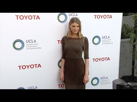 Angela Lindvall 2017 UCLA IoES Gala Green Carpet