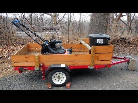 4ft  x 8ft  Folding Utility Trailer --- Ironton Northern Tool/Harbor Freight