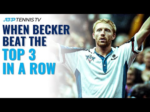 When Boris Becker Beat The Top 3 In A Row To Win Stockholm 1994!