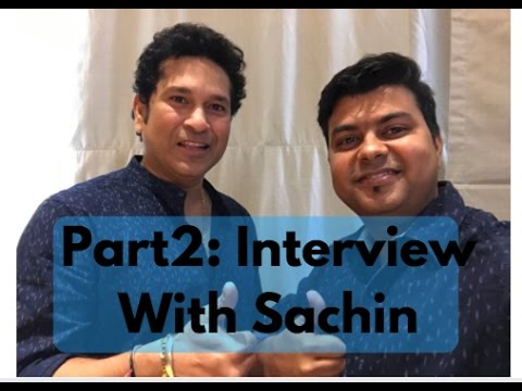 Part 2, Exclusive Interview, Sachin Tendulkar At GTU, For ...