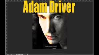 Adam Driver - Colorize test With Photoshop