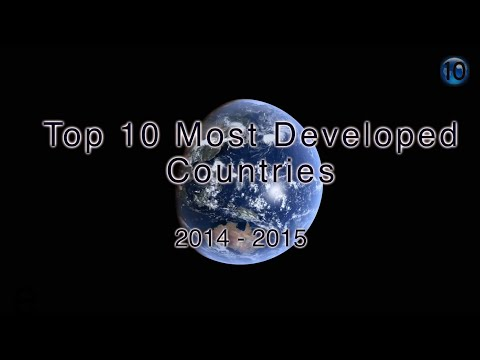 Top 10 Most Developed Countries 2015