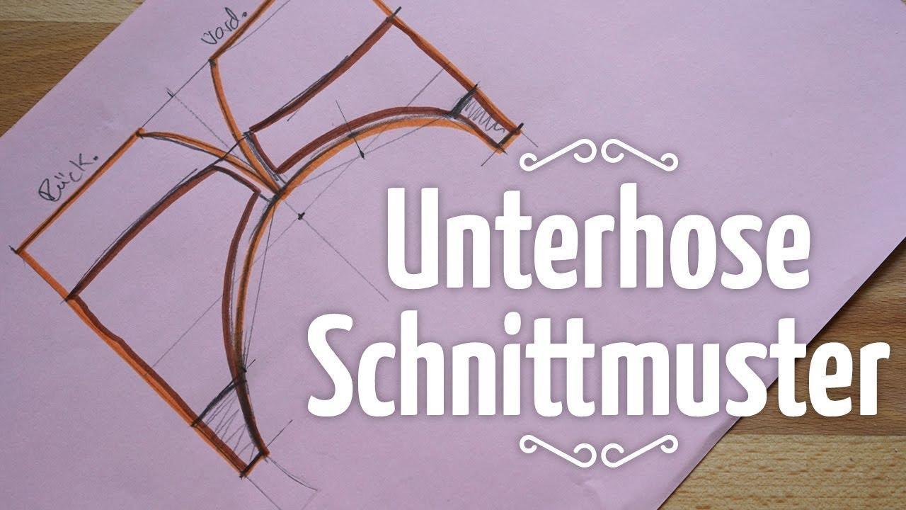 Grundschnitt für Unterhose // Schnittmuster selber erstellen - YouTube