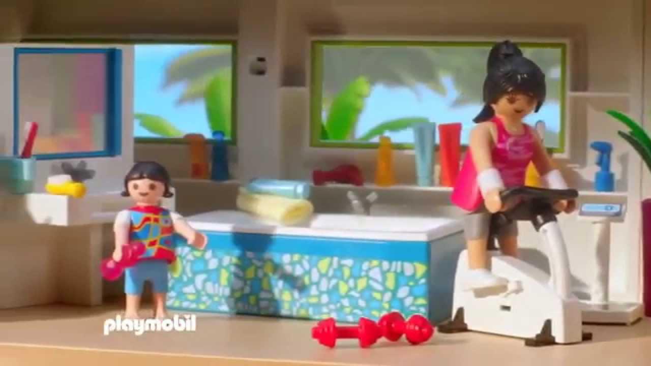 Moderne luxevilla 5574 zwembad met terras 5575 keuken for Salle de bain villa moderne playmobil