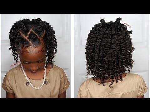 Mini Bantu Knots w/Two-Strand Twistout | Kids Natural Hairstyle | IAMAWOG