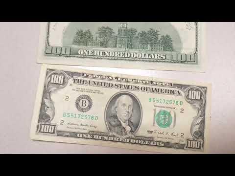 100 Dollar Bill Star Note Rare Vs Old Money Cash