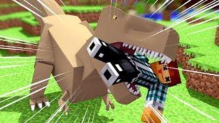 Minecraft: O DINOSSAURO ME MORDEU !! ( Ark Parque #15 )