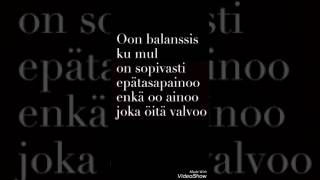 Kuningasidea- Balanssis (lyrics)