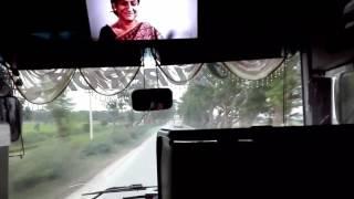 Royal coach hyundai vs Desh Travels vs Hanif bus race..Desh travels on fireee......