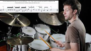 Drum Lesson : Vinnie Colaiuta lick from Behind the Veil (cross roads) explained