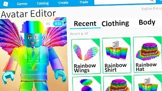 Using ONLY RAINBOW To Make A Roblox Account!