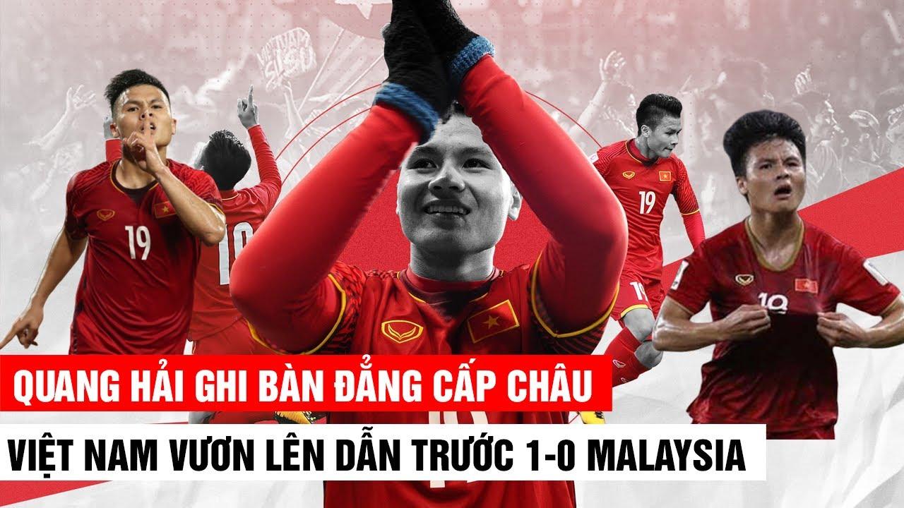 QUANG HẢI GHI BÀN ĐẲNG CẤP CHÂU ÂU | VIỆT NAM DẪN TRƯỚC MALAYSIA 1-0 | Khán Đài Online