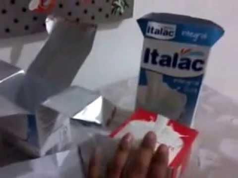 Enfeite de festa feito com caixa de leite  YouTube