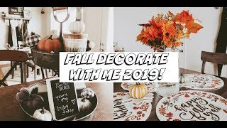 FALL DECORATE WITH ME 2019! MILITARY HOUSING ♡
