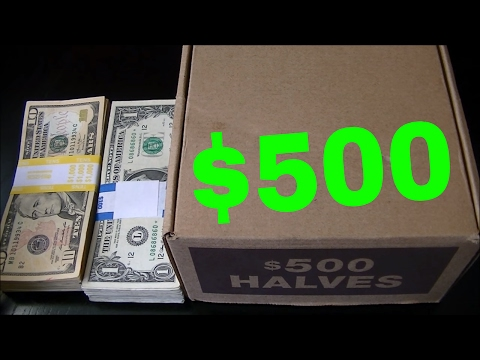 SEARCHING $500.00 BANK SEALED HALF DOLLARS | COIN ROLL HUNTING W/ JD'S VARIETY CHANNEL