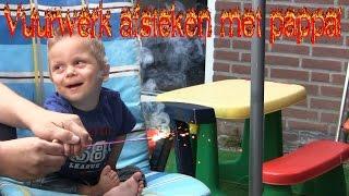 Vlog 27: Vuurwerk afsteken met pappa!