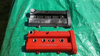 How to wrinkle paint your valve cover. JDM red