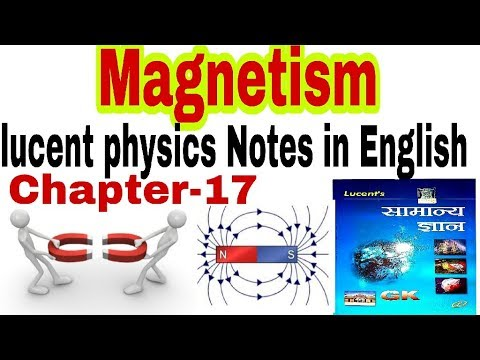 magnetism lucent physics chapter-17 in English for SSC, RAILWAYS, UPSC, PCS  AND PATWARI, GK SCIENCE