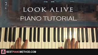 Video HOW TO PLAY - BlocBoy JB & Drake - Look Alive (Piano Tutorial Lesson) download MP3, 3GP, MP4, WEBM, AVI, FLV Juni 2018