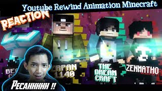 MANTUL ! | Reaction Youtube Rewind Minecraft Animation Indonesia 2018 =Darkness=