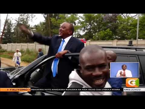 Rais Uhuru Kenyatta  anunua ndizi Langata