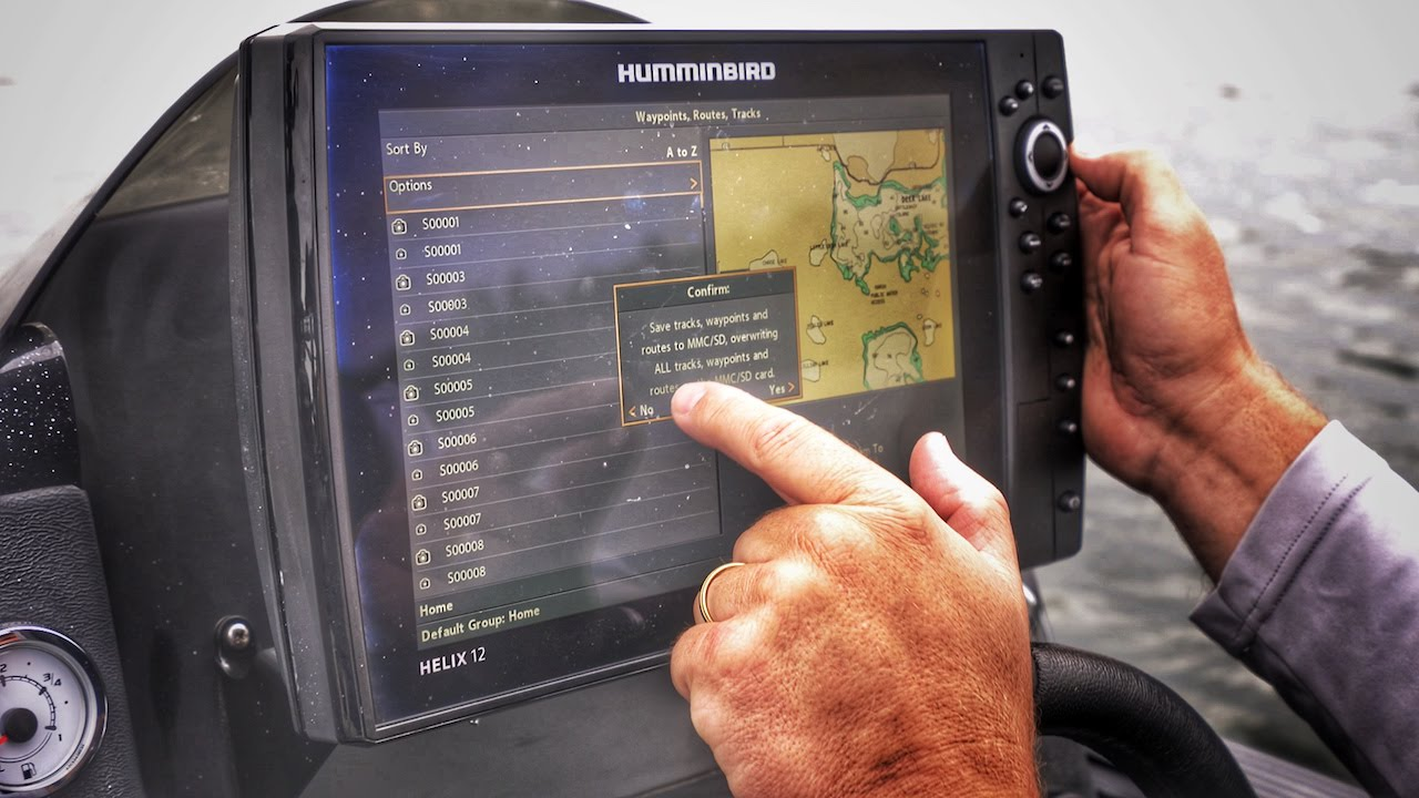 How to Backup Waypoints on Humminbird Fishfinders