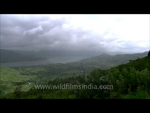 Time lapse of clouds over Krishna river Valley