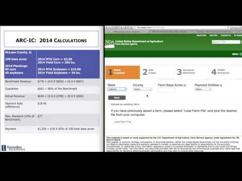 Farm Program Decisions: ARC-IC - Step 5 (October 24, 2014)