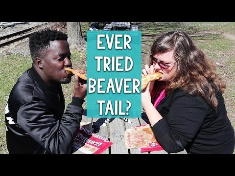 Steve's Beaver Tail  🙈🙉🙊 and Travel Talk - Beavertails Pastry Quebec Snack