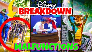 Top 10 Disney Fails, Ride Breakdowns & Malfunctions Pt 3