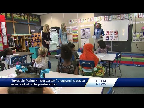 Maine kindergartners benefit from grant to ease burden of college education