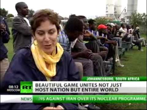 Newshound - Low-income South Africans provided with big screens for World Cup