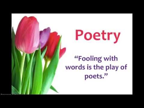 Introduction to Poetry: The 3 R's