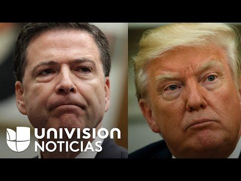 ¿James Comey se ocultó detrás de unas cortinas para evitar el saludo del presidente Trump?