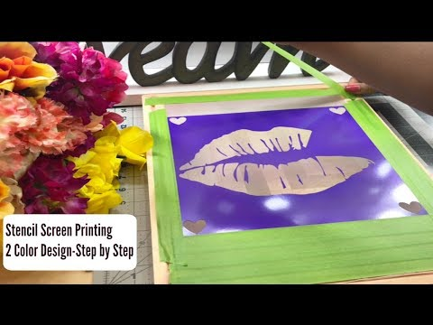 Stencil Screen Printing 2 Color Design Step by Step |  screen printing business thumbnail