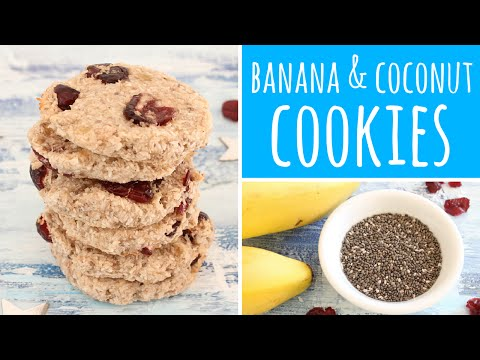 Banana Coconut Cookies with Chia Seeds, Cranberries & maple syrup | Recipe Diary