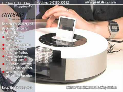 auvisio r hren verst rker docking station f r ipod mp3 player youtube. Black Bedroom Furniture Sets. Home Design Ideas