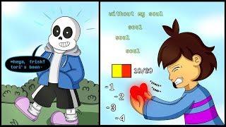 Sans helps Frisk?【 Undertale Animation】Undertale Comic dubs Compilation