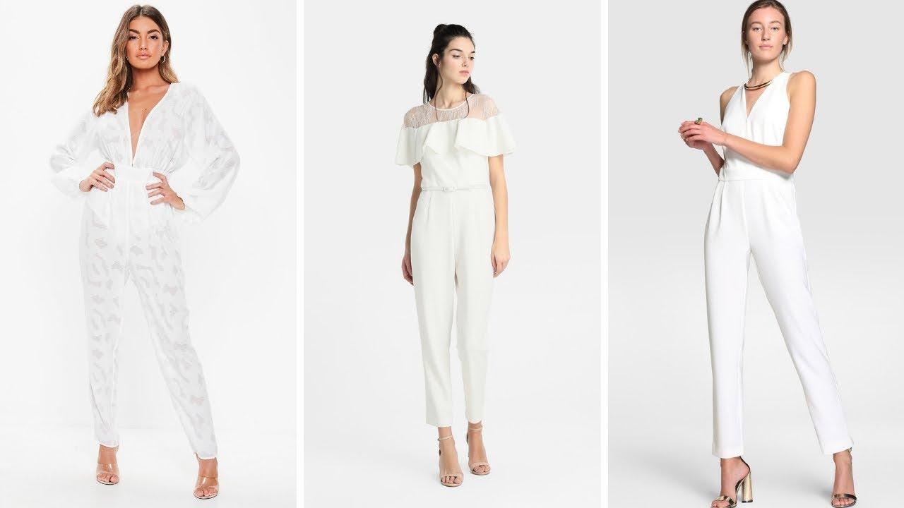 MONOS LARGOS BLANCOS ♥  ¡15 Hermosas Opciones! #Moda #Fashion #Monos