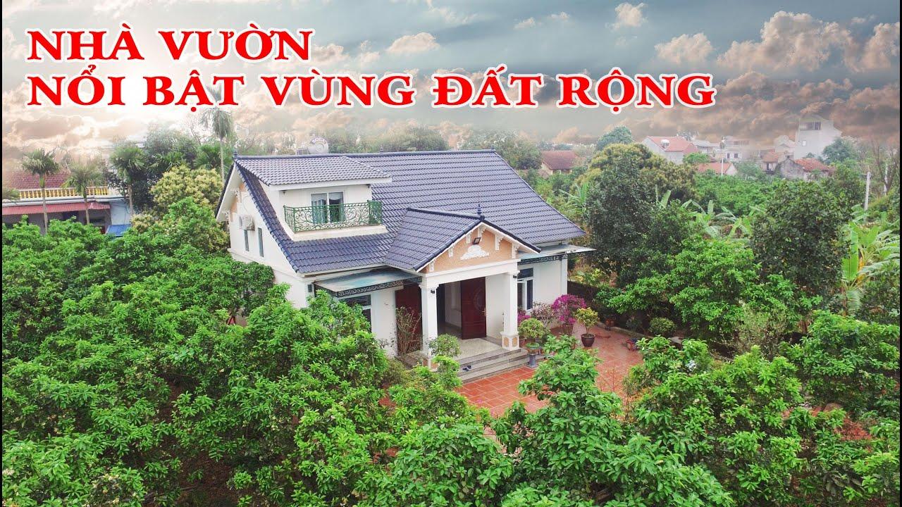 image Mẫu nhà vườn đơn giản nổi bật vùng đất ngoại thành Hà Nội
