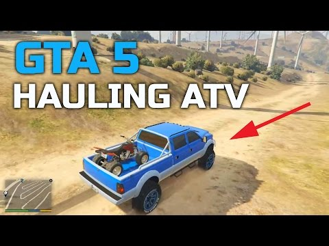 GTA V | CUSTOM LIFTED TRUCK | HAULING FOUR-WHEELER | OFF-ROA