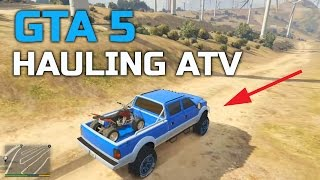 GTA V | CUSTOM LIFTED TRUCK | HAULING FOUR-WHEELER | OFF-ROAD
