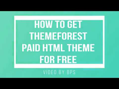 How To Get Themeforest Paid Html Theme For Free || BPS