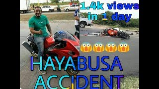 hayabusa brutal accident speed 300kmph😱😱😱😱😱